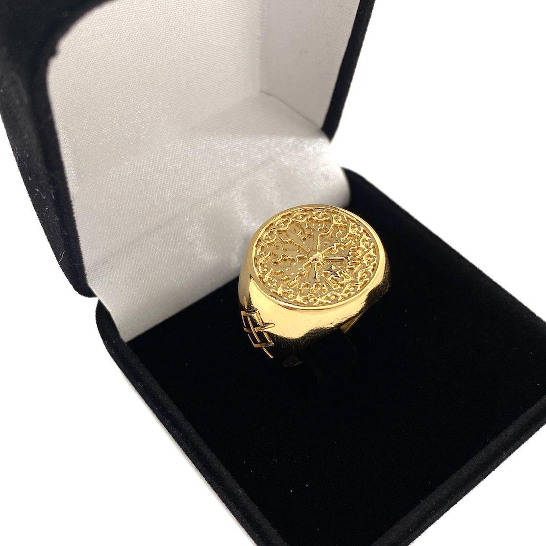 Anel Bússola Viking (8g) (Banho Ouro 24k)