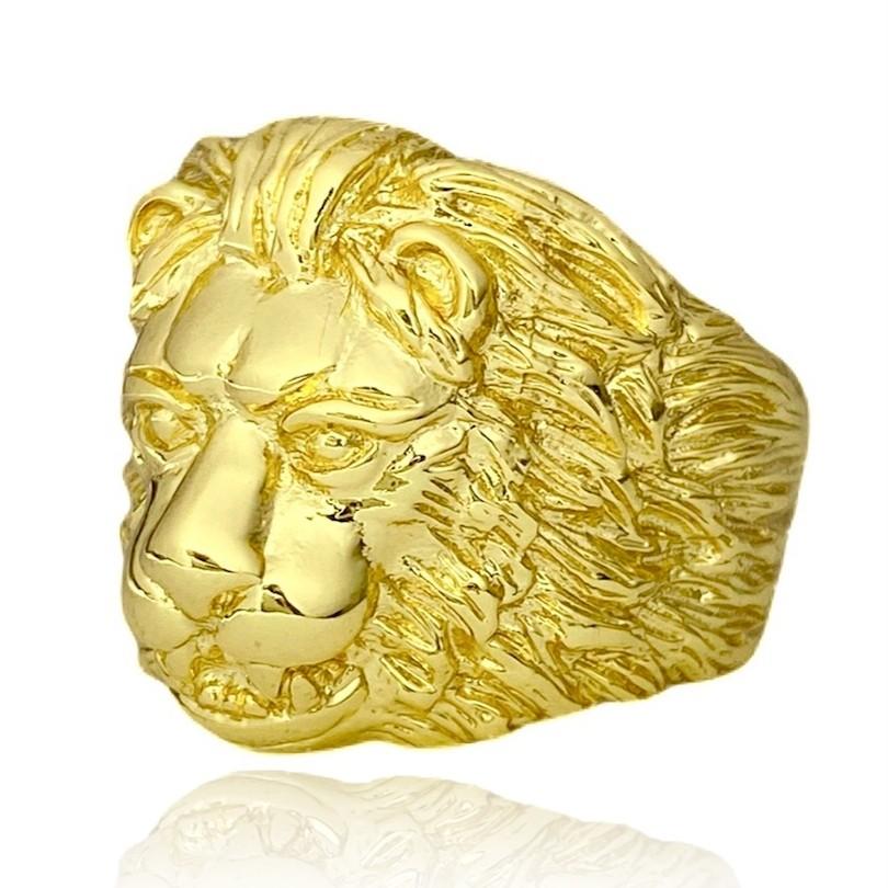 Anel Leão (12g) (Banho Ouro 24k)
