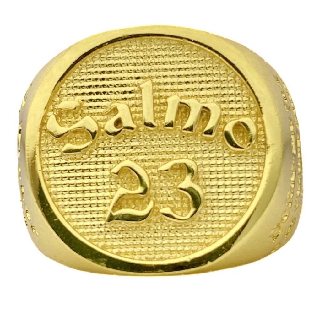 Anel Salmo 23 13g (Banho Ouro 24k)
