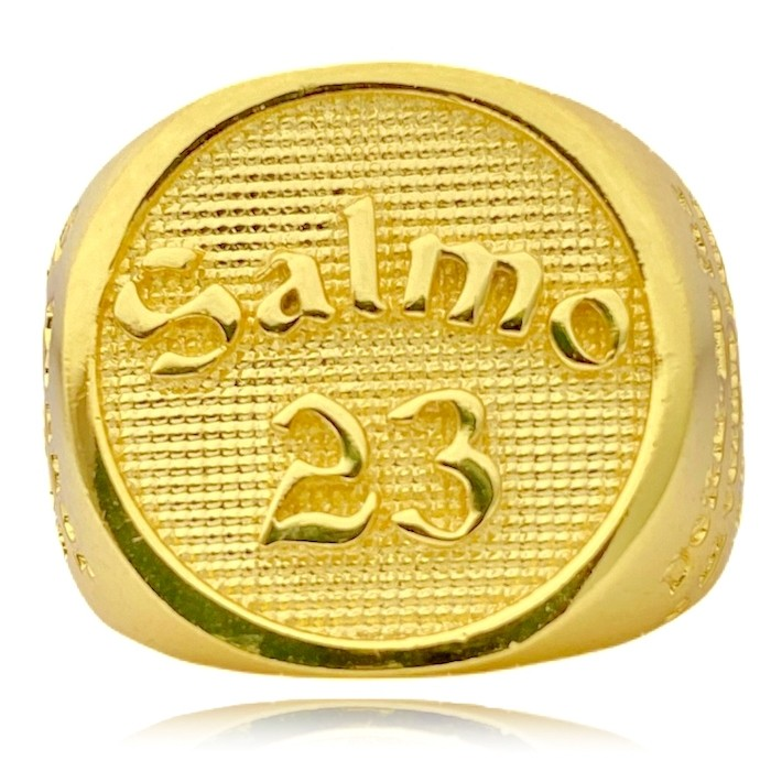 Anel Salmo 23 (16,1g) (Banho Ouro 24k)