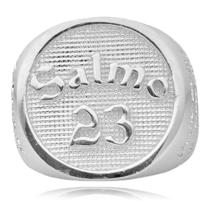 Anel Salmo 23 13g (Banho Prata 925)