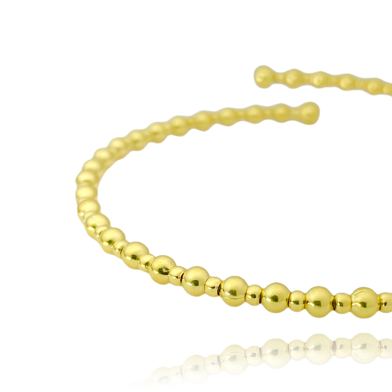 Bracelete 1 por 1 Esferas (Banho Ouro 24k)