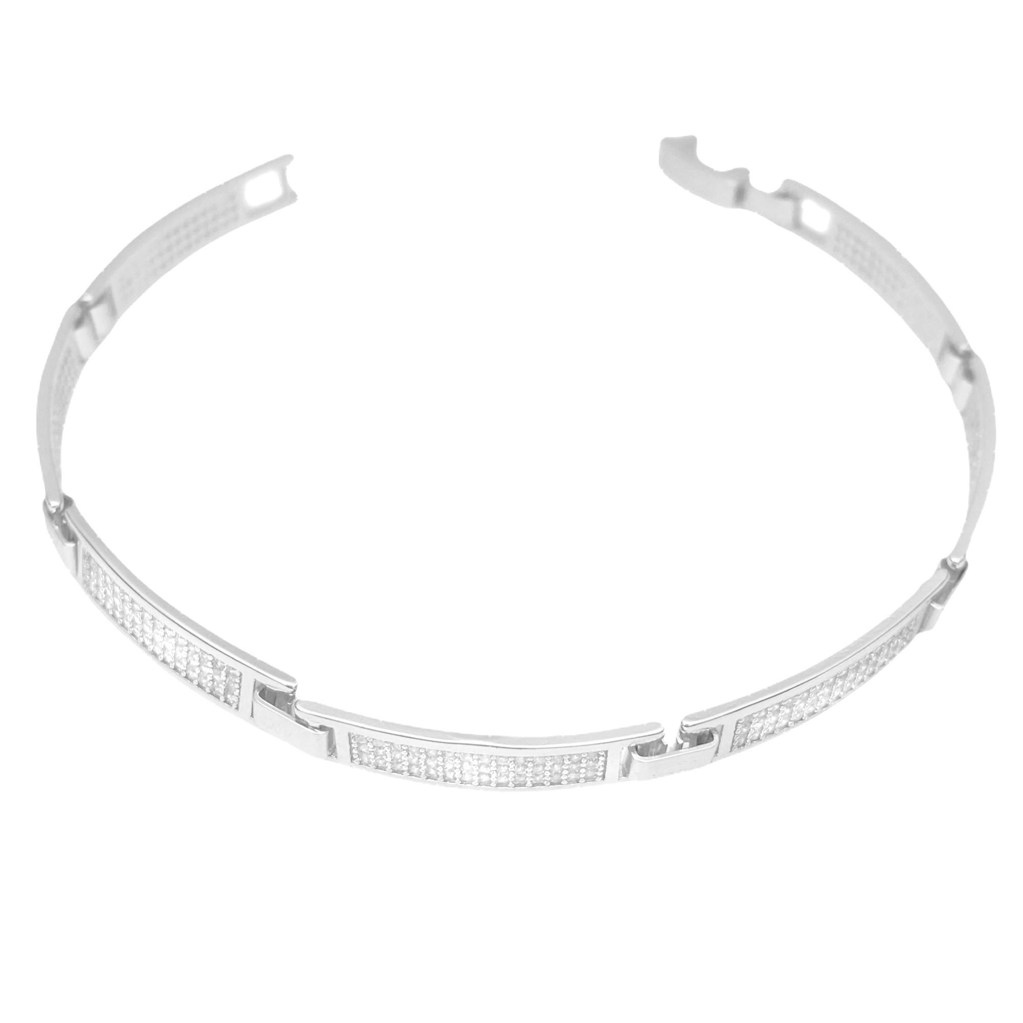 Bracelete Cravejado em Zircônia 5mm (8,3g) (Banho Prata 925)