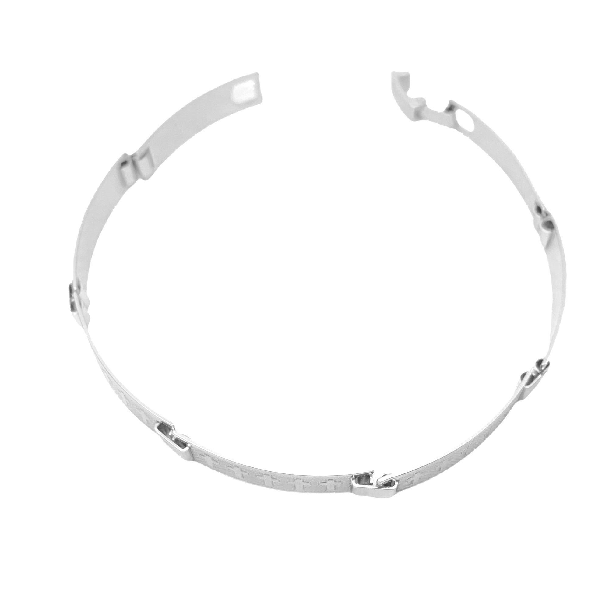 Bracelete Cruz 7mm (9,3g) (Banho Prata 925)