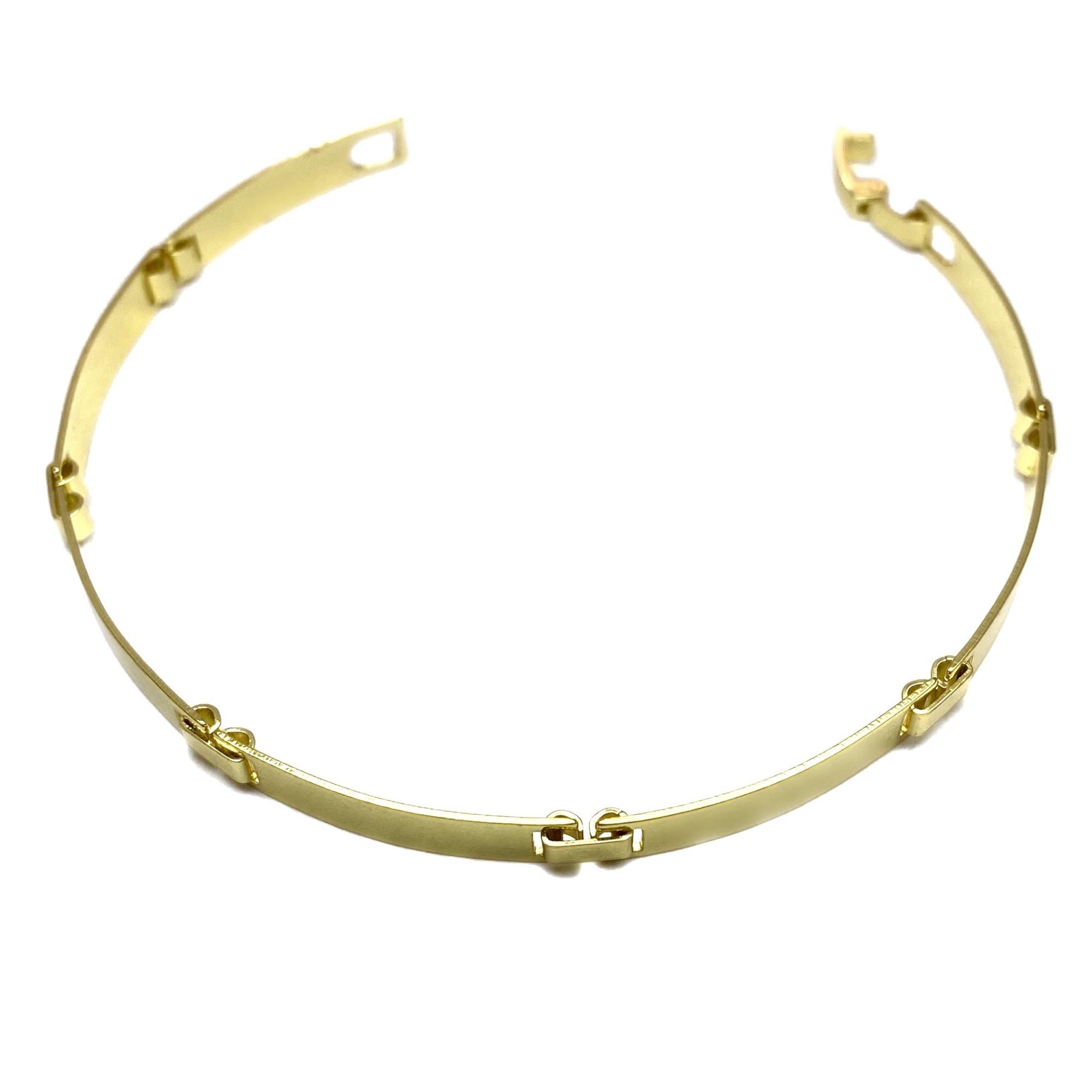 Bracelete Liso 5mm 6g (Banho De Ouro 18k)