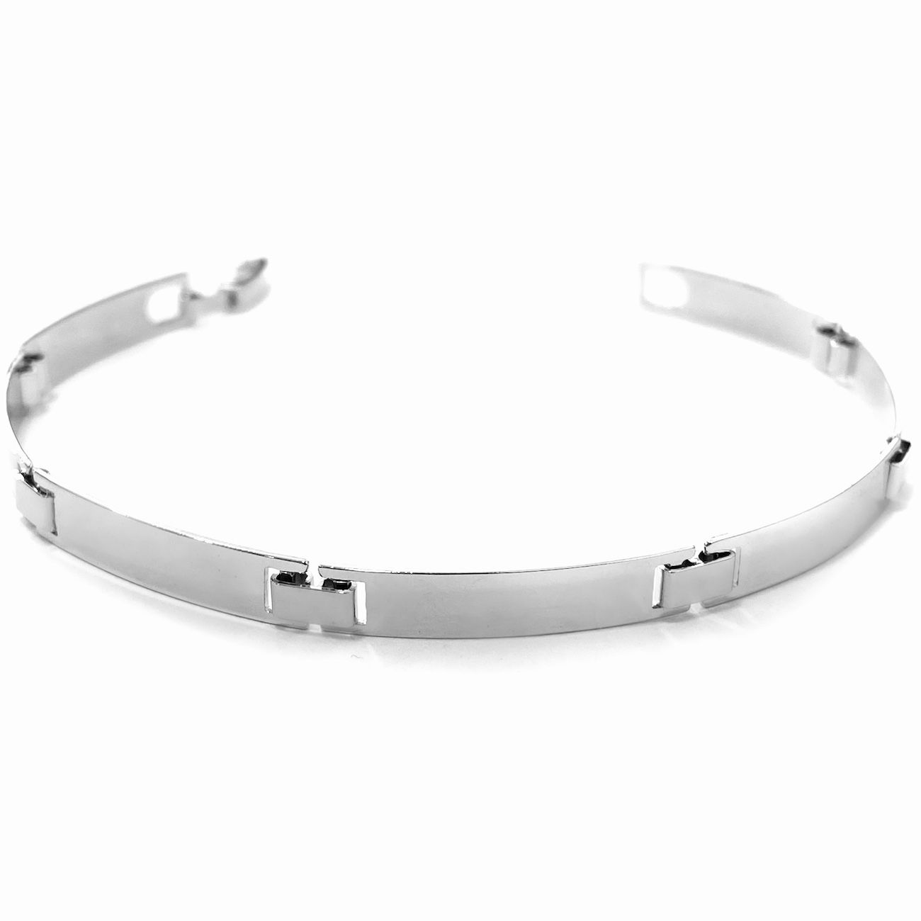 Bracelete Liso 5mm (Banho Prata 925)