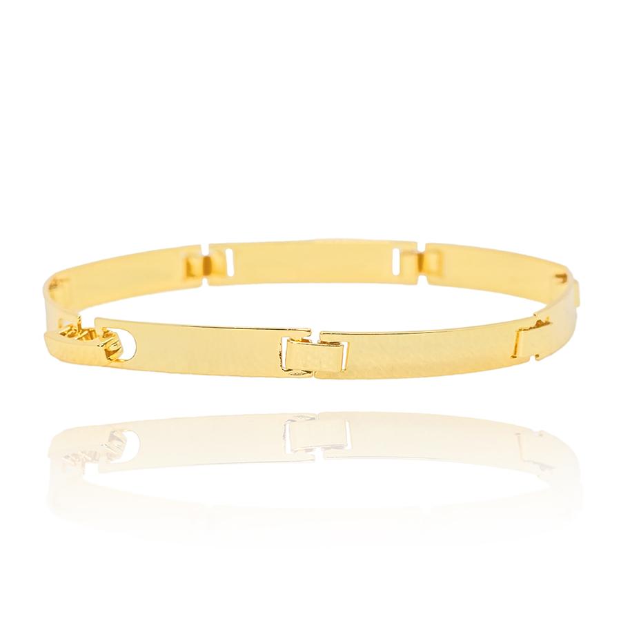 Bracelete Liso 5mm (Banho Ouro 24k)