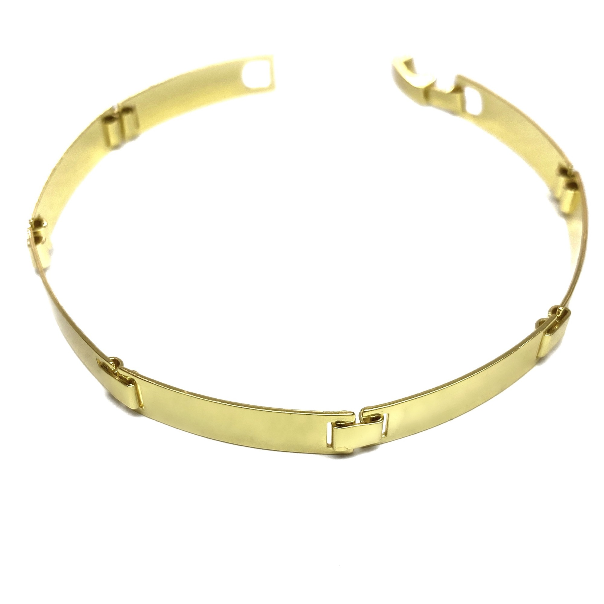 Bracelete Liso 7mm 8,5g (Banho Ouro 24k)