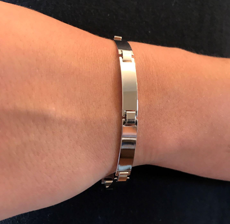Bracelete Liso 7mm (Banho Prata 925)
