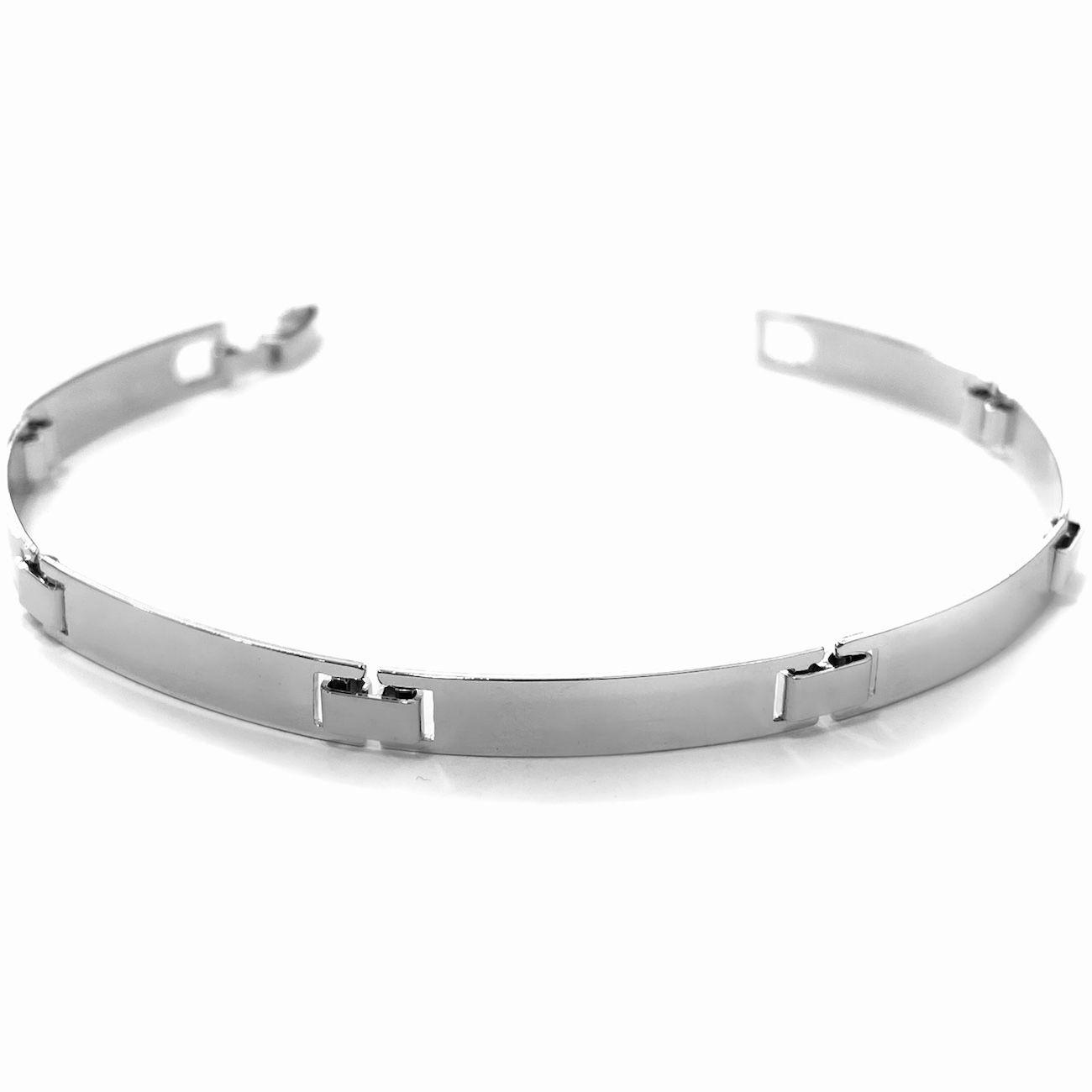Bracelete Liso Prateado 5mm 6g (Banho Prata 925)