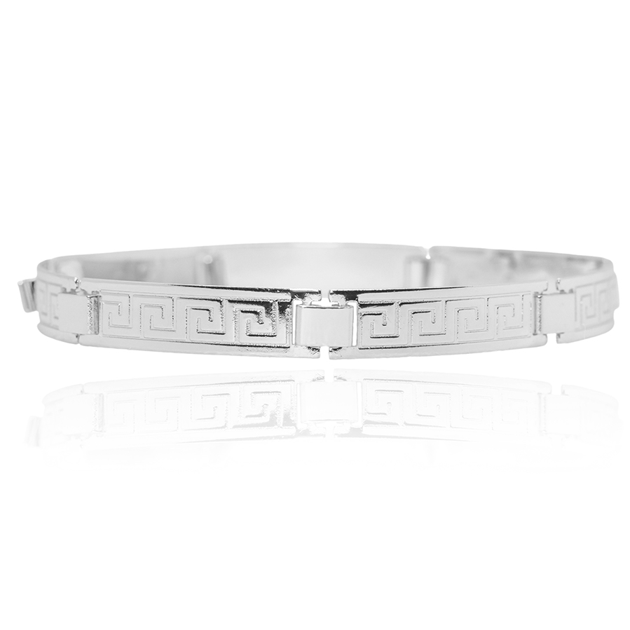 Bracelete Medusa 5mm (Banho Prata 925)