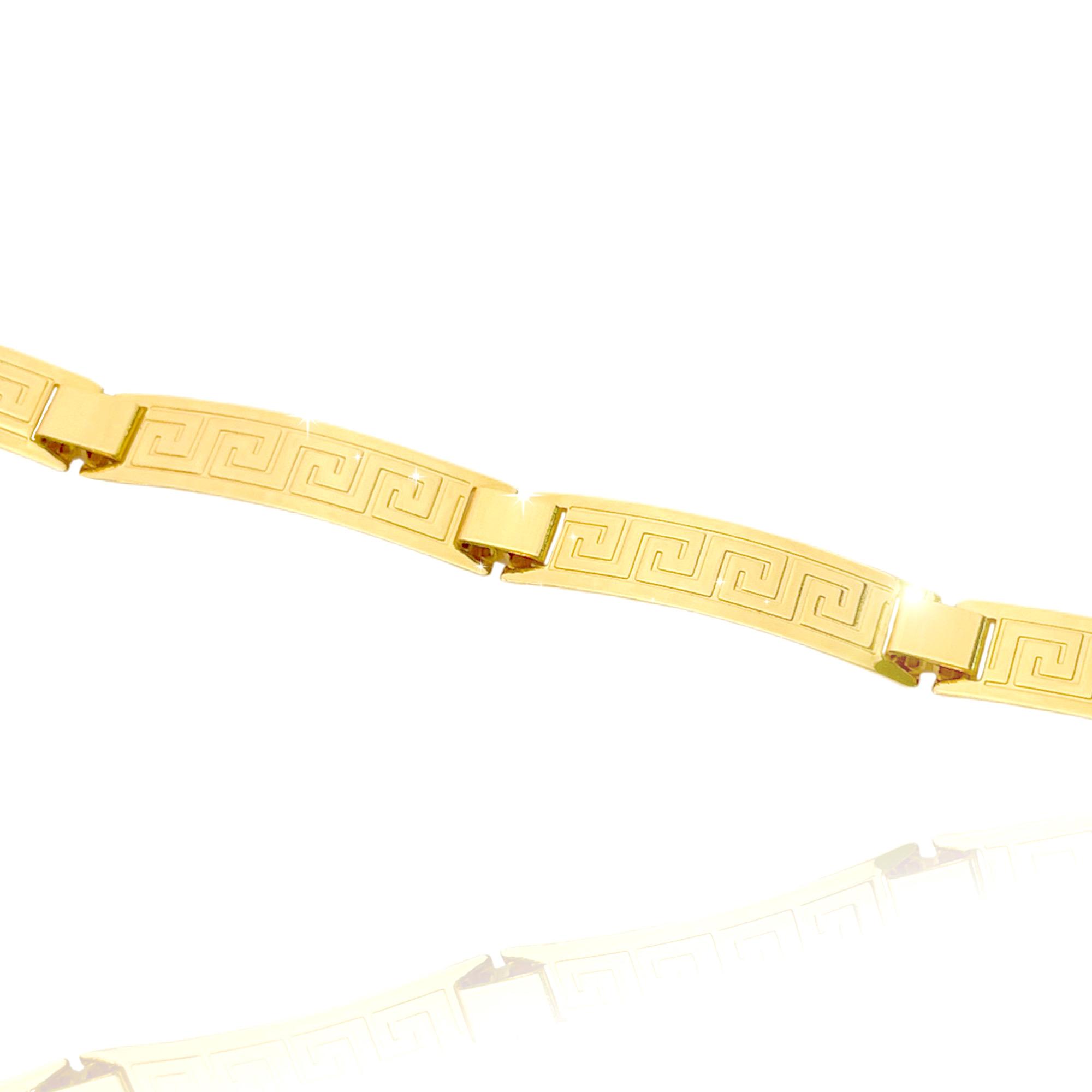 Bracelete Medusa 7mm (10g) (Banho Ouro 24k)