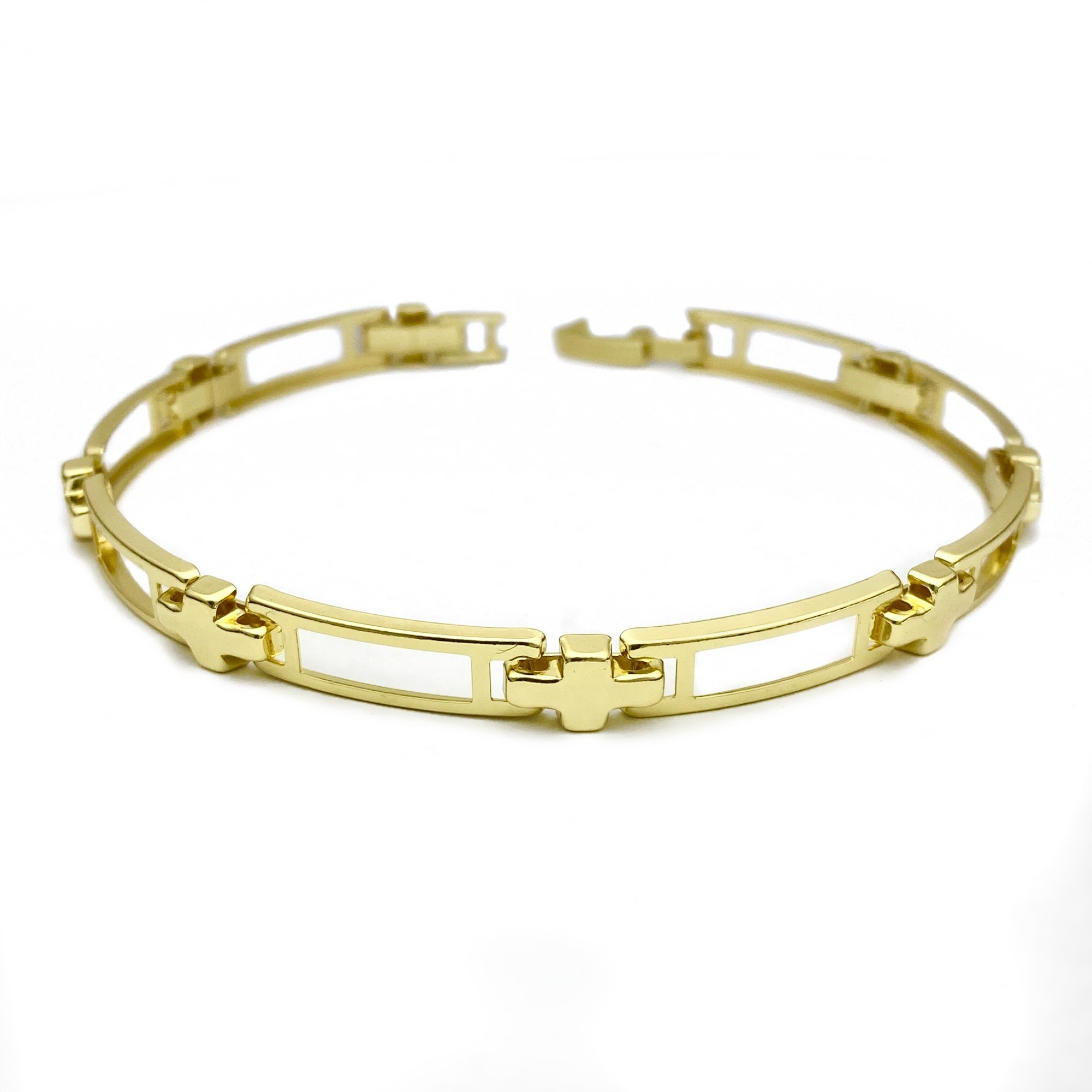 Bracelete Vazado 5mm (Banho Ouro 24k)