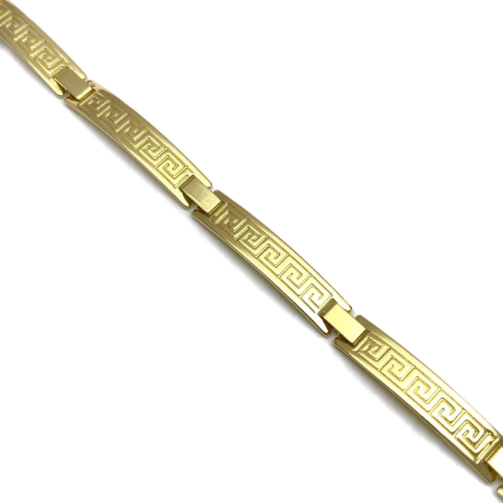 Bracelete Medusa 5mm 6g (Banho Ouro 24k)