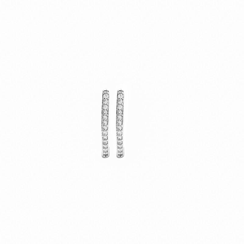 Brinco 1 Fileira 13 Pedras de Zircônia (Banho Prata 925)