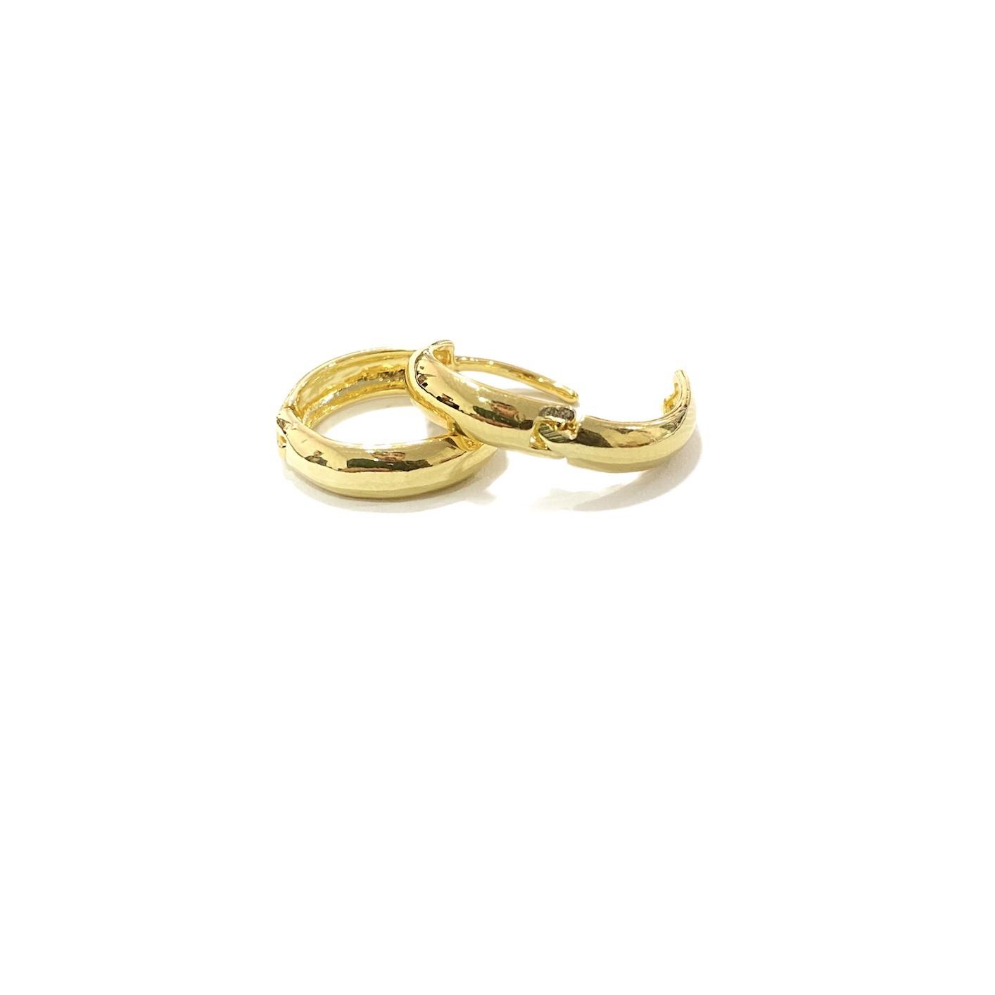 Brinco Argola Anatômica M (Banho Ouro 24k)