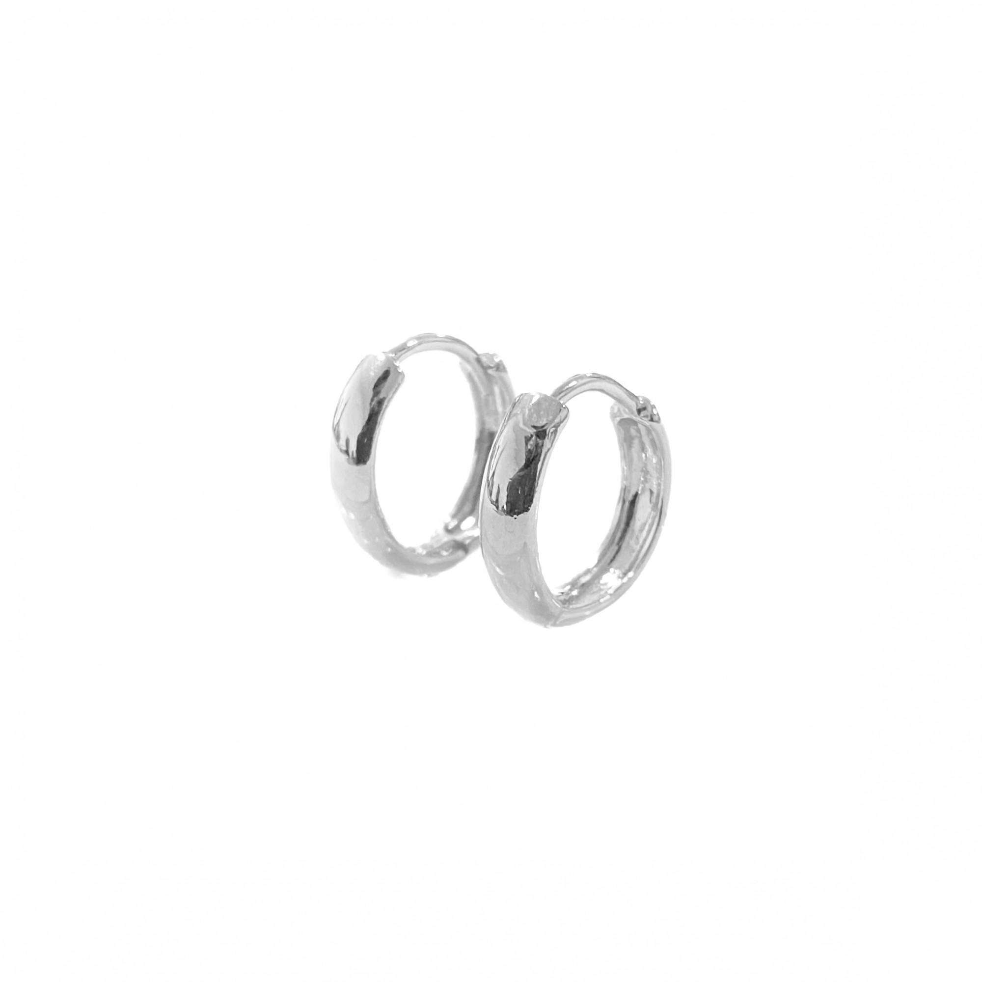 Brinco Argola Anatômica M (Banho Prata 925) (Piercing Hélix)