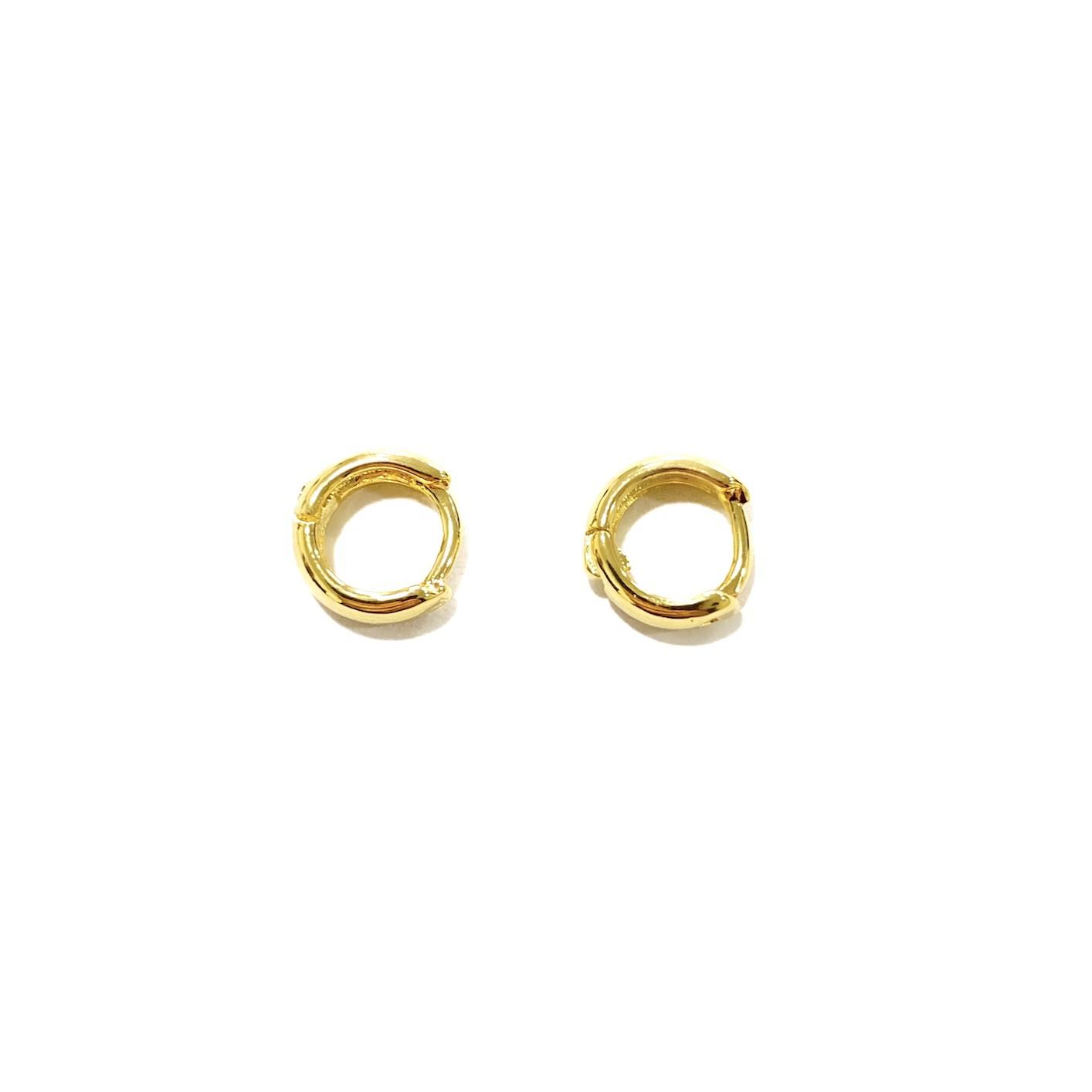 Brinco Argola Anatômica P (Banho Ouro 24k) (Piercing Hélix)