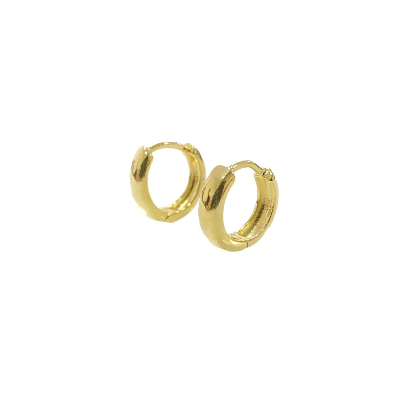 Brinco Argola Anatômica PP (Banho Ouro 24k) (Piercing Hélix)