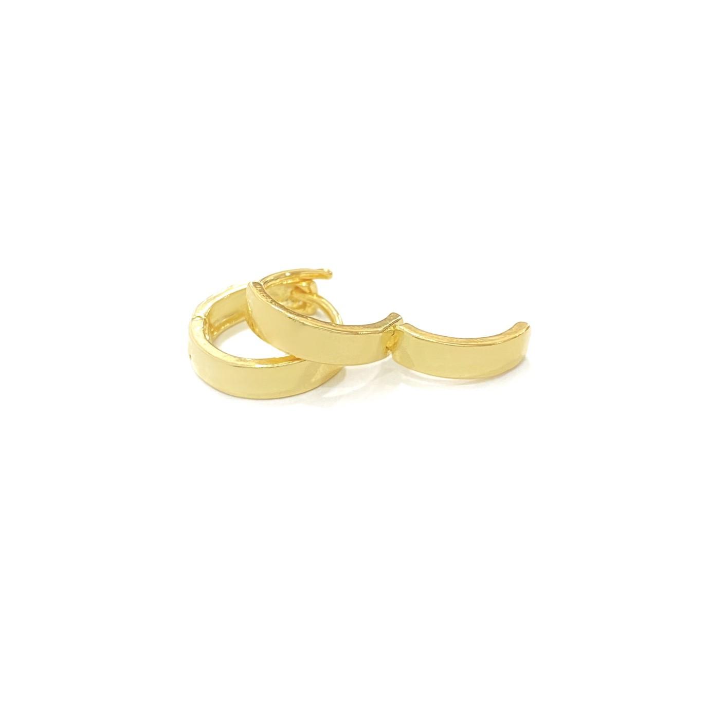 Brinco Argola Chapada M (Banho Ouro 24k)