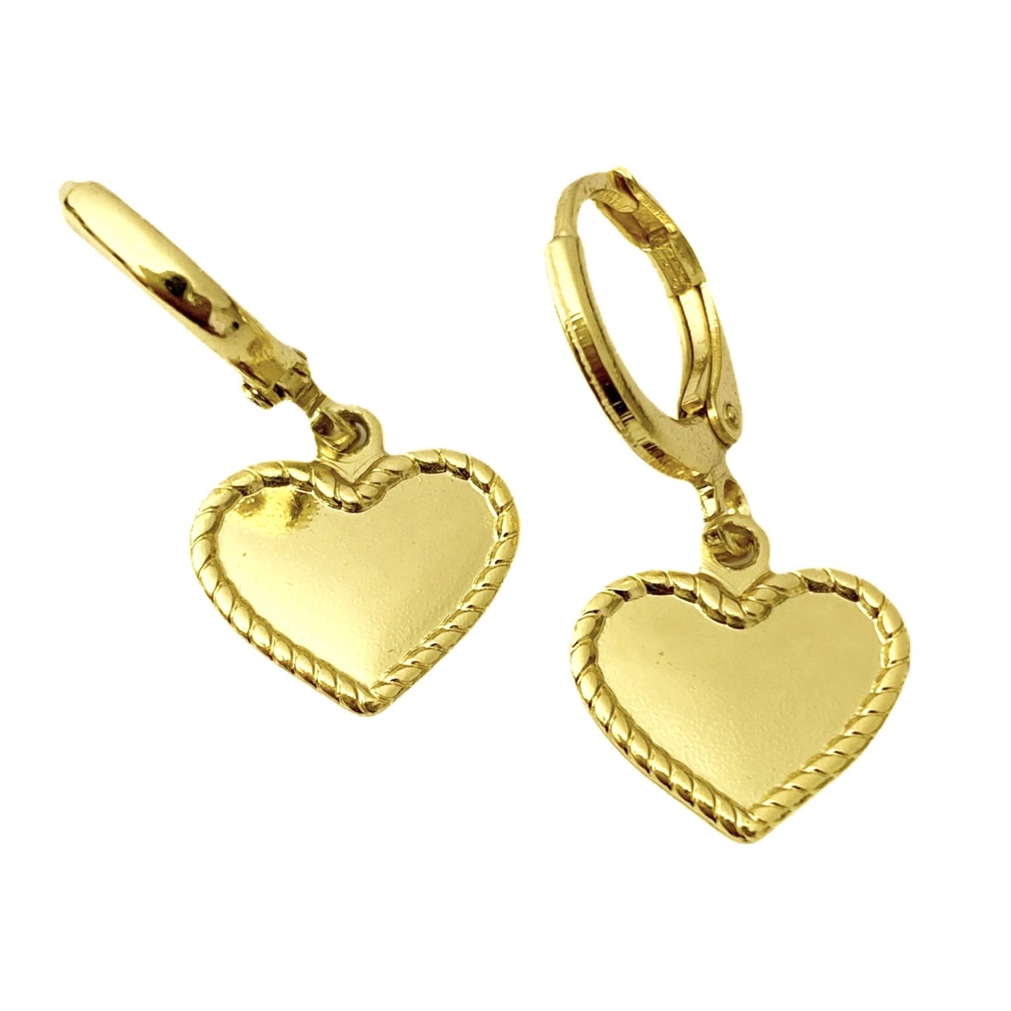 Brinco Argola Coração (Banho Ouro 24k)