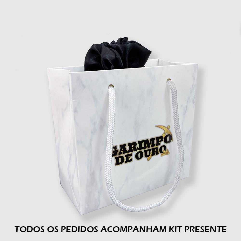 Brinco Argola M com Cruz (Banho Ouro 24k)