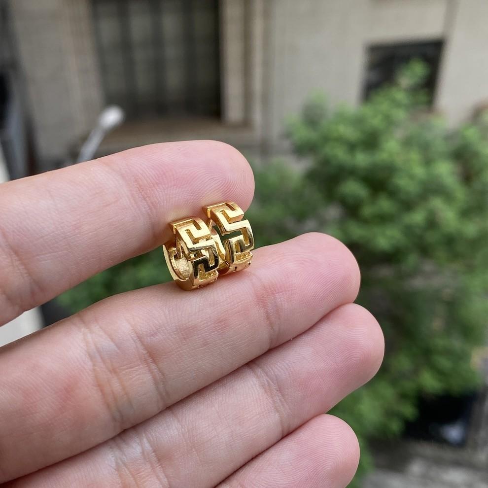 Brinco Argola Medusa GDO (3,5g) (Banho Ouro 24k)