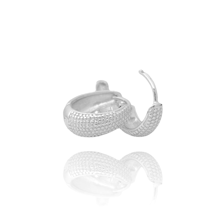 Brinco Argola Texturizada P (Piercing Hélix) (Banho Prata 925)