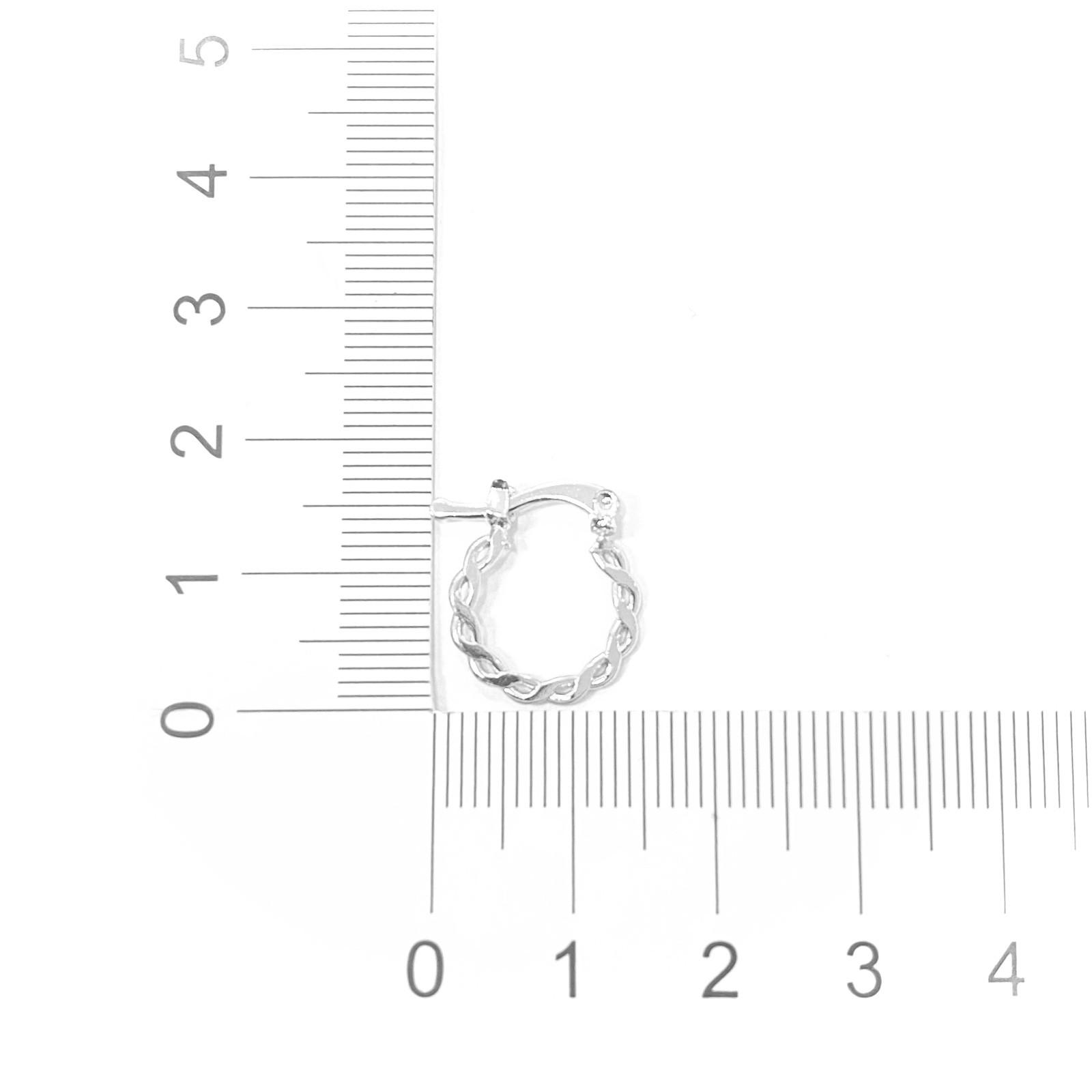 Brinco Argola Trançada P (Banho Prata 925) (Click)