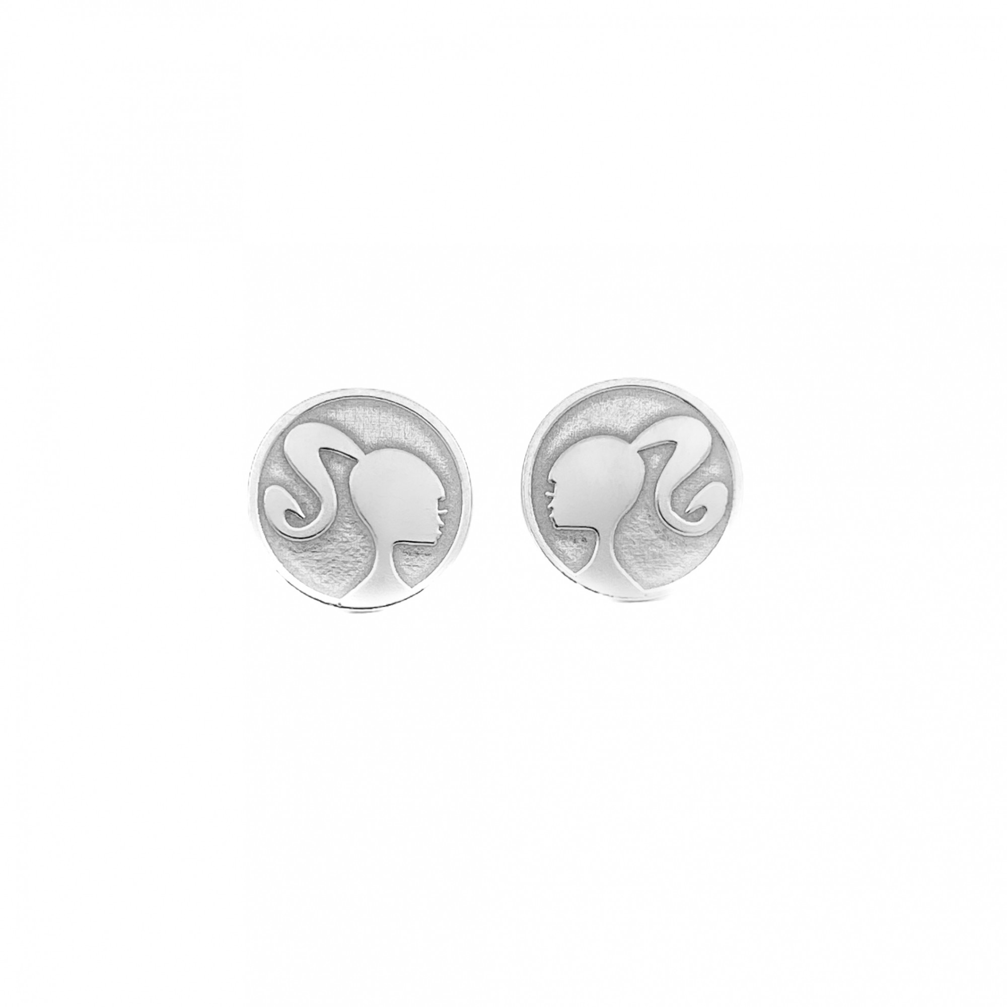 Brinco Barbie 10mm X 10mm (Prata 925 Italiana)