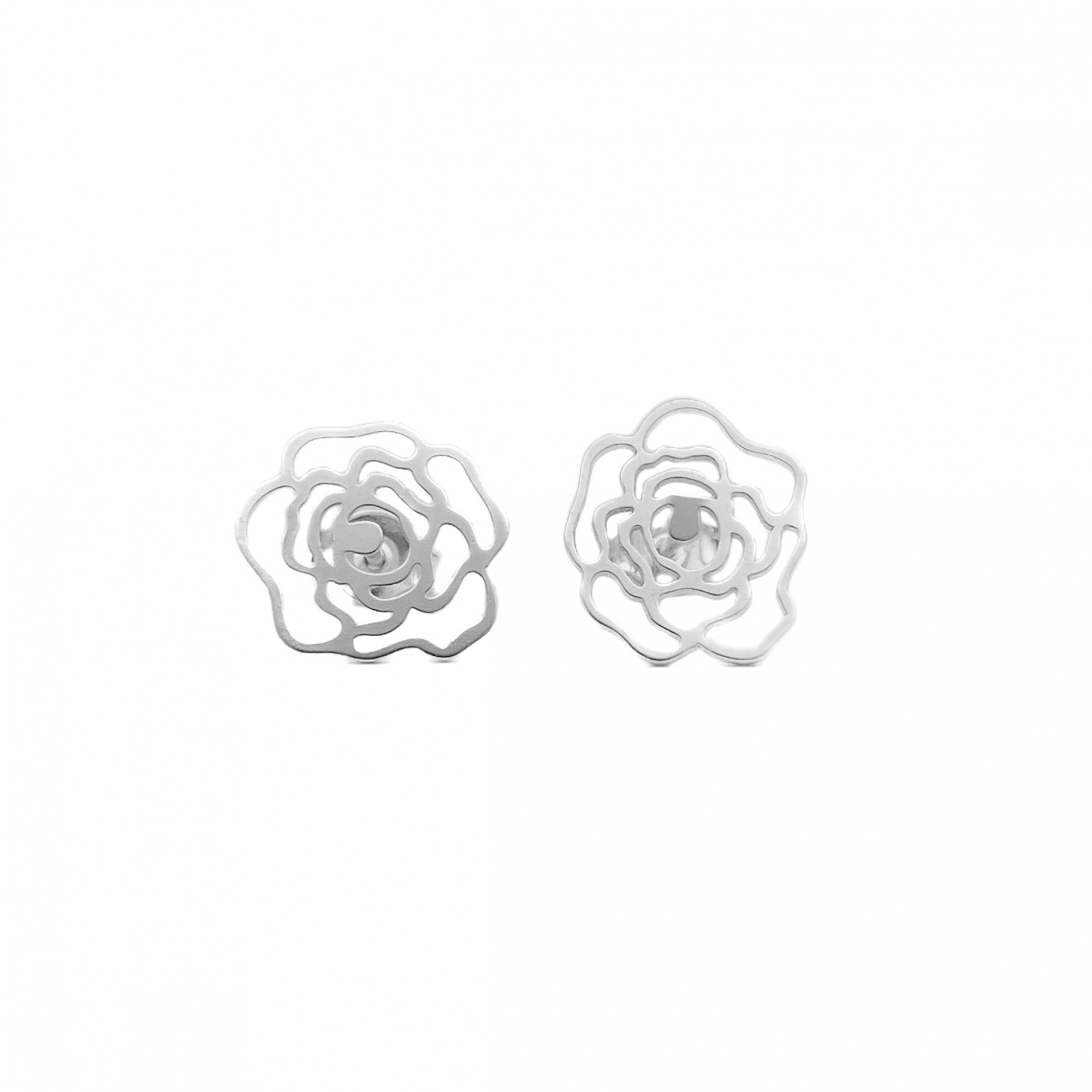 Brinco Rosa Vazada (Prata 925 Italiana)
