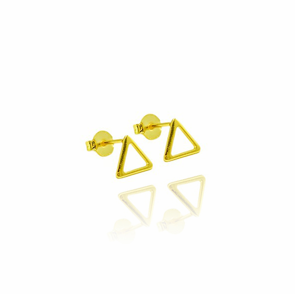 Brinco Triangulo G (Banho Ouro 24k)