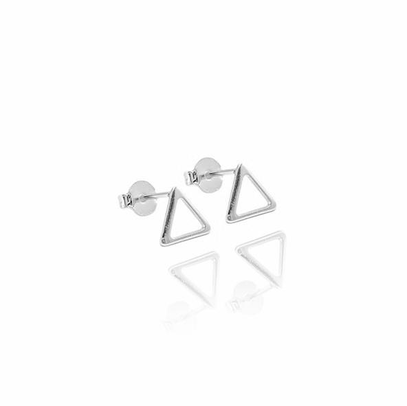 Brinco Triangulo M (Banho Prata 925)