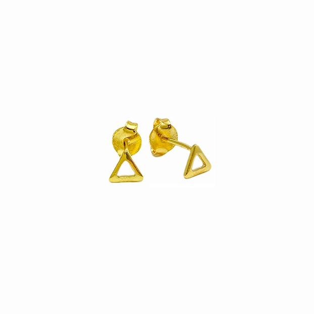 Brinco Triangulo P (Banho Ouro 24k)