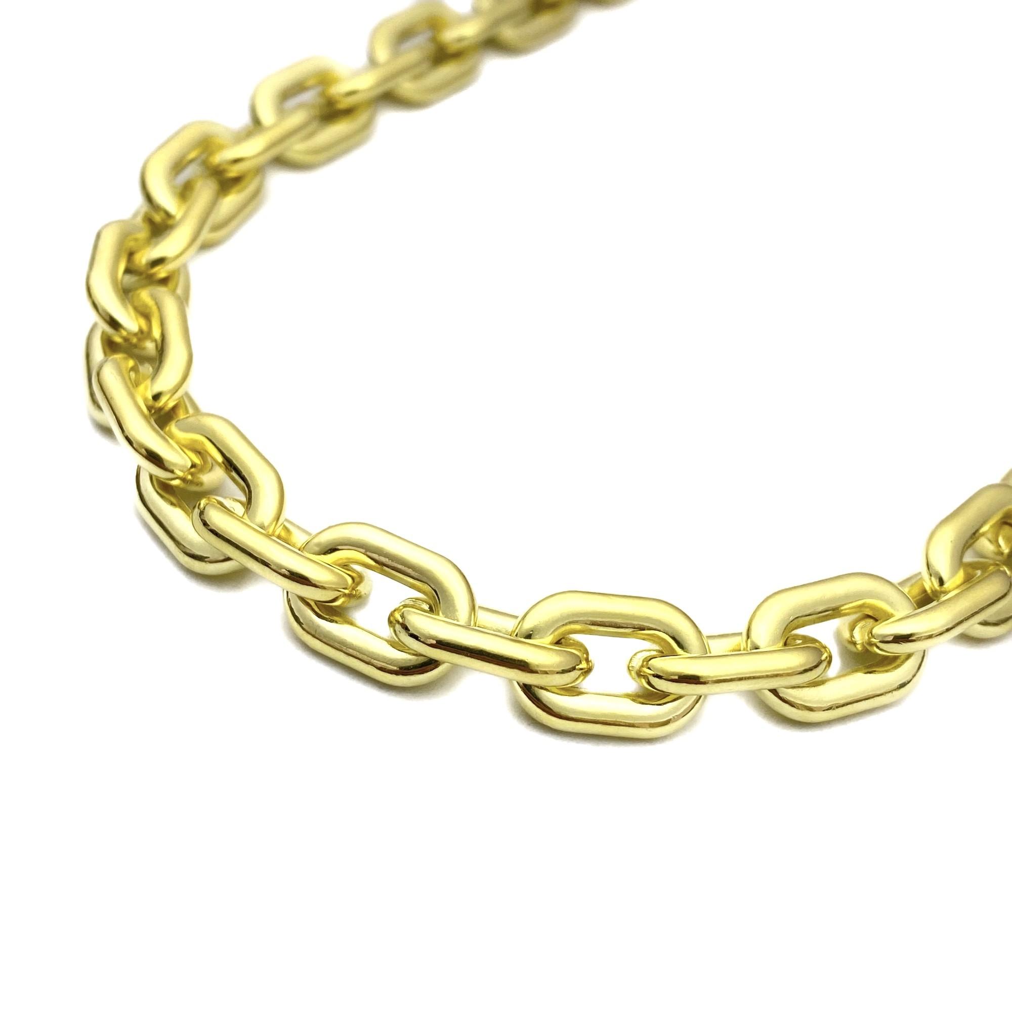 "Choker/ Colar ""Chain"" 40cm 10mm (Banho Ouro 18k)"