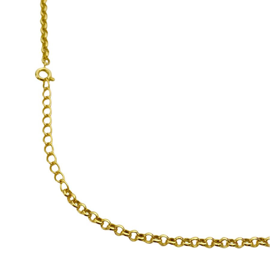 Colar Elo Portugues 3mm 45cm (7,9g) (Banho Ouro 24k)