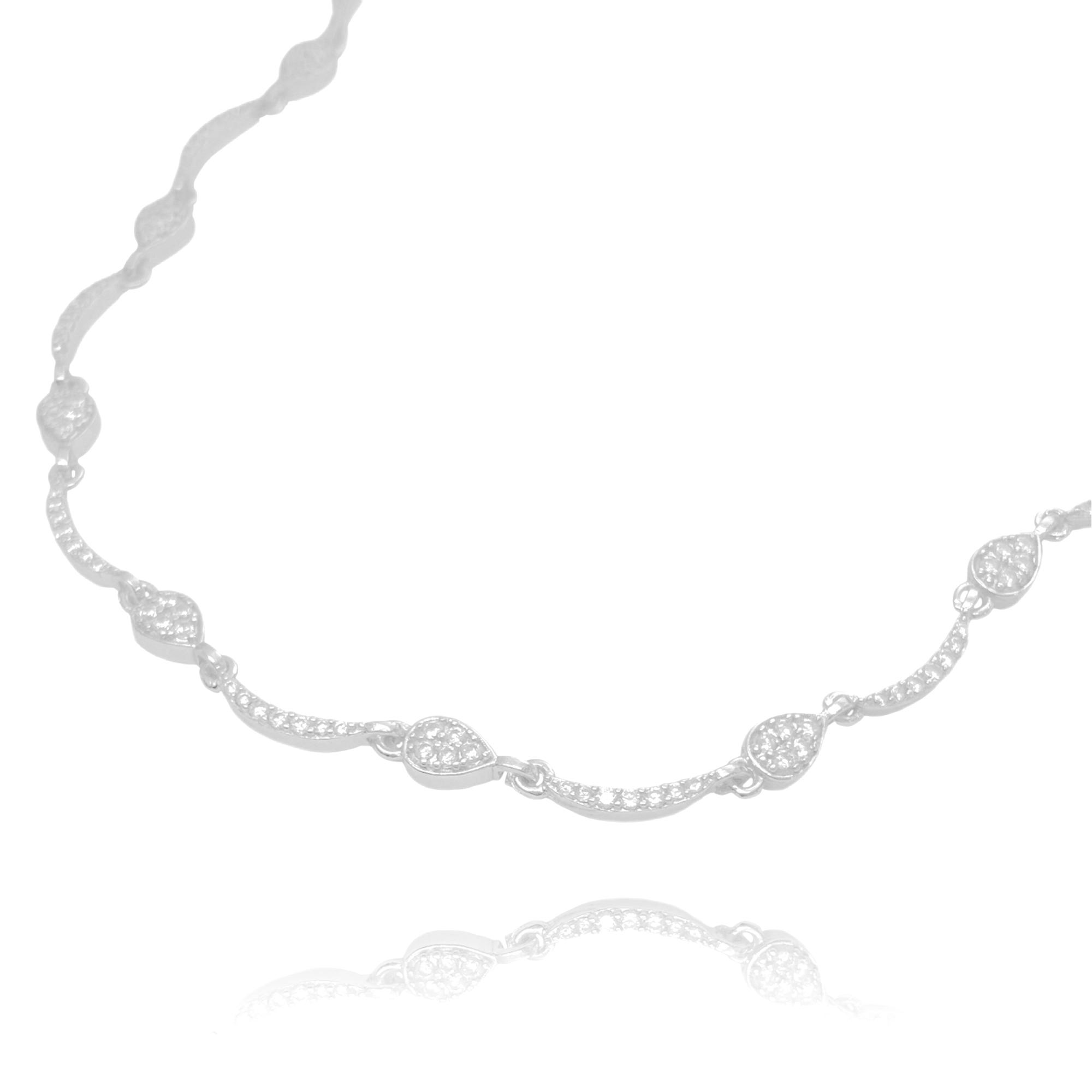 Choker Gotas Cravejadas em Zircônia (8,1g) (Banho Prata 925)