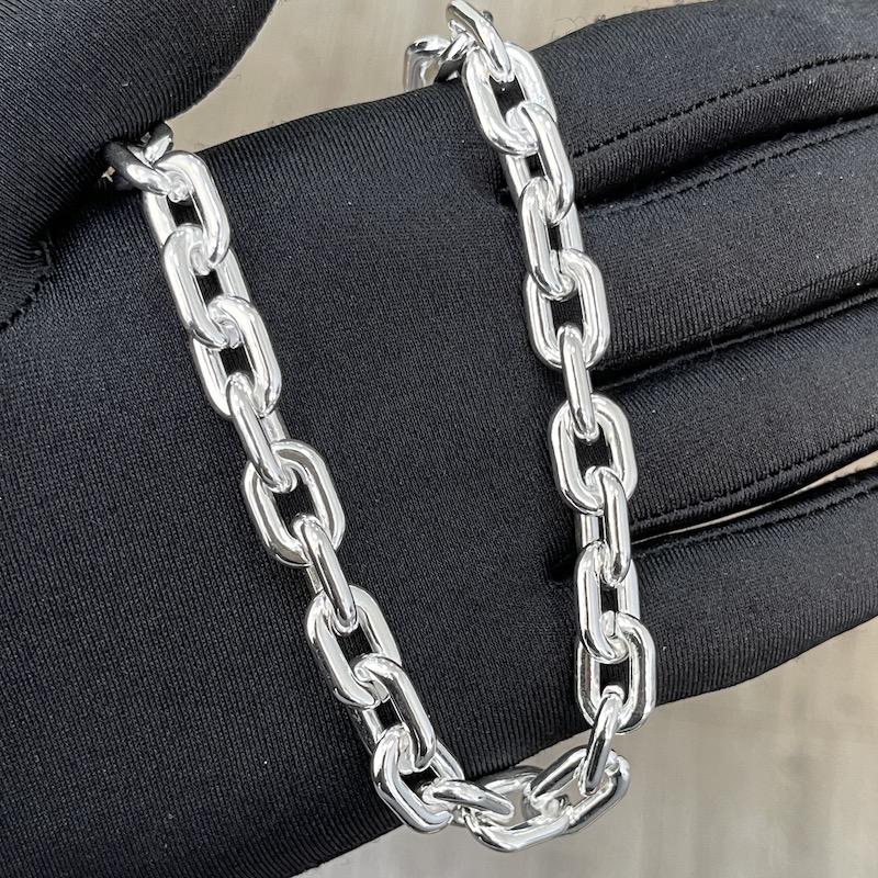 """Colar """"Chain"""" 45cm 10mm (19g) (Banho Prata 925)"""