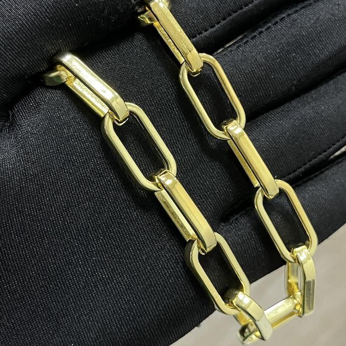 "Colar ""Chain"" 50cm 12mm (20,5g) (Banho Ouro 24k)"