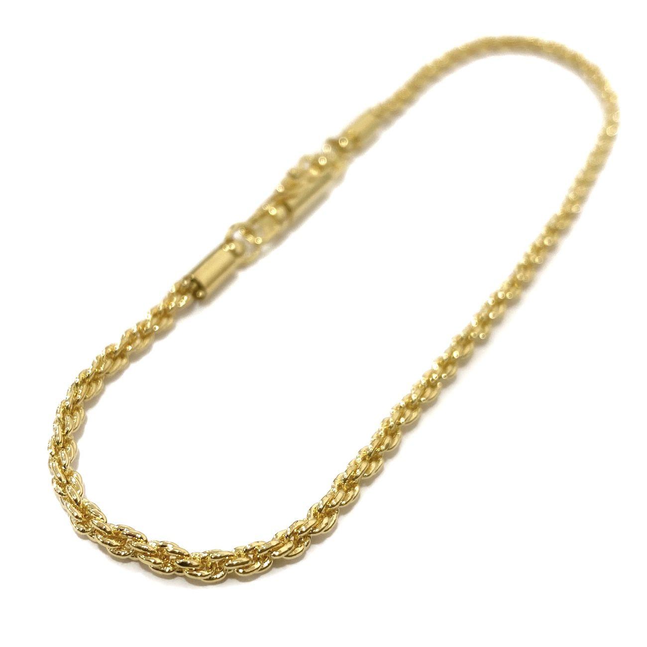 Conjunto Cordão Baiano Diamantado 2mm 60cm 8,4g (Fecho canhão) + Pulseira Cordão Baiano 2mm 5g (Fecho Canhão) (Banho Ouro 24K)