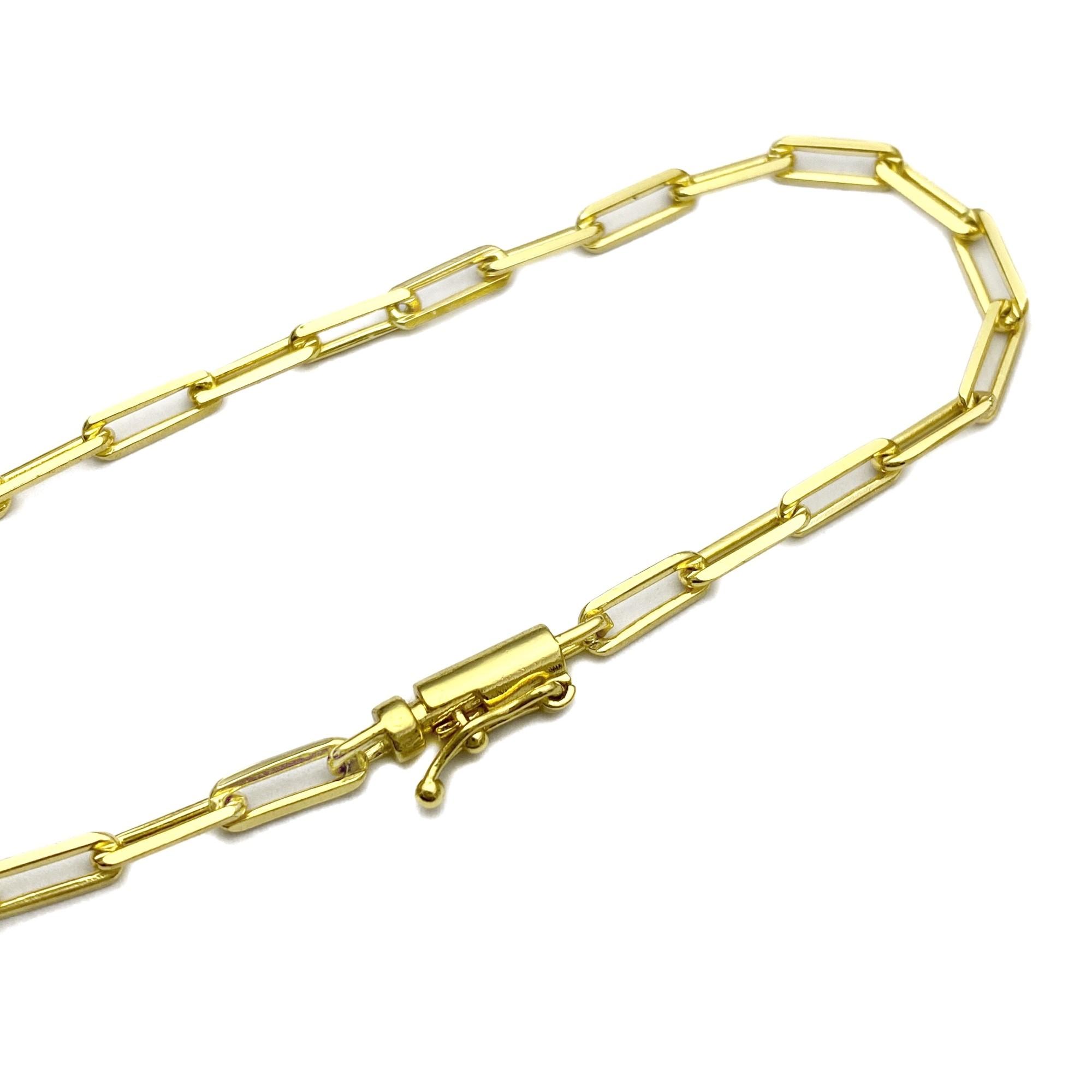 Conjunto Corrente Carrier Diamantada 3mm 60cm 10,5g (Fecho Canhão) + Pulseira Carrier Diamantada 3mm 4,5g (Fecho Canhão) (Banho De Ouro 24k)