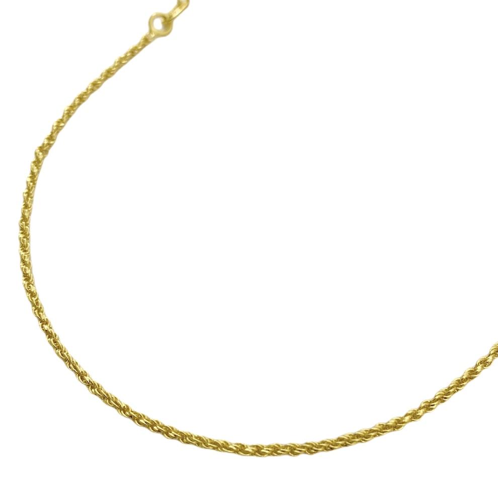Corrente Cordão Baiano Diamantado 1,8mm 60cm (Fecho Tradicional) (TAG 18K) (Banho Ouro 18k)