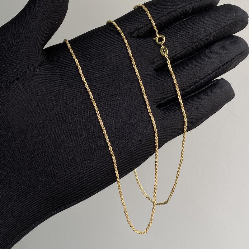 Cordão Baiano Diamantado 1,8mm 80cm (Fecho Tradicional) (Banho Ouro 24k)