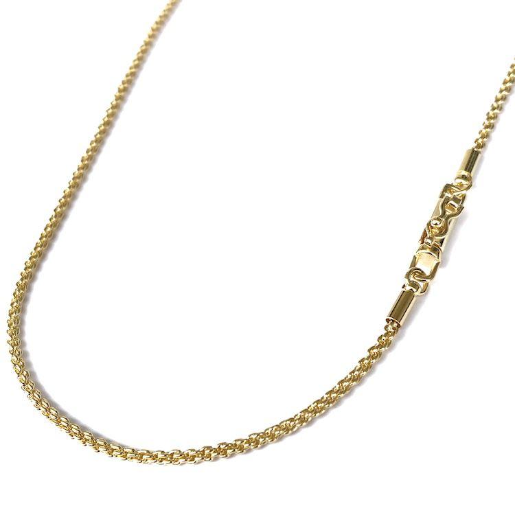 Corrente Cordão Baiano Diamantado 2mm 70cm 9,5g (Fecho Canhão) (Banho Ouro 24k)