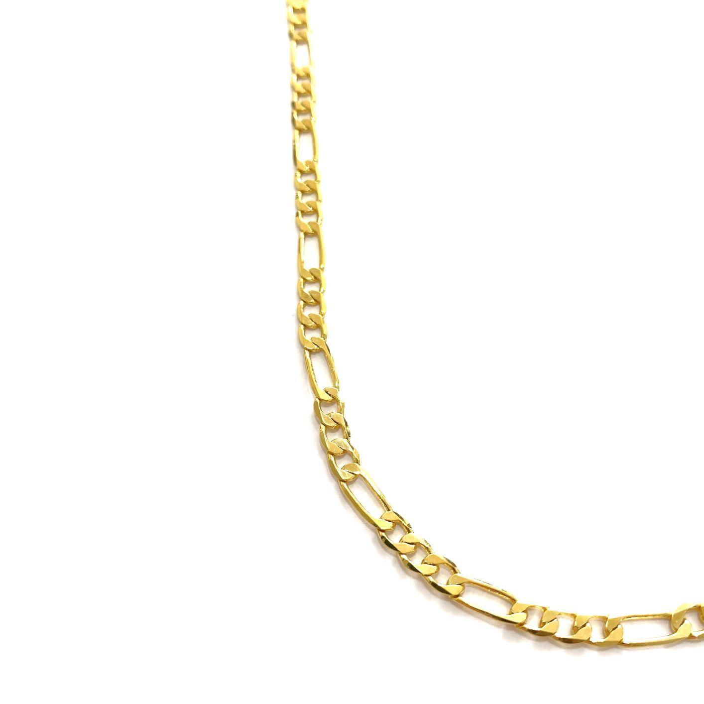 Corrente 3 por 1 4,5mm 70cm (14g) (Fecho Gaveta) (Banho Ouro 24K)