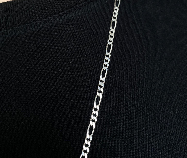 Corrente 3 por 1 3,5mm 70cm 10g (Prata 925 Italiana)