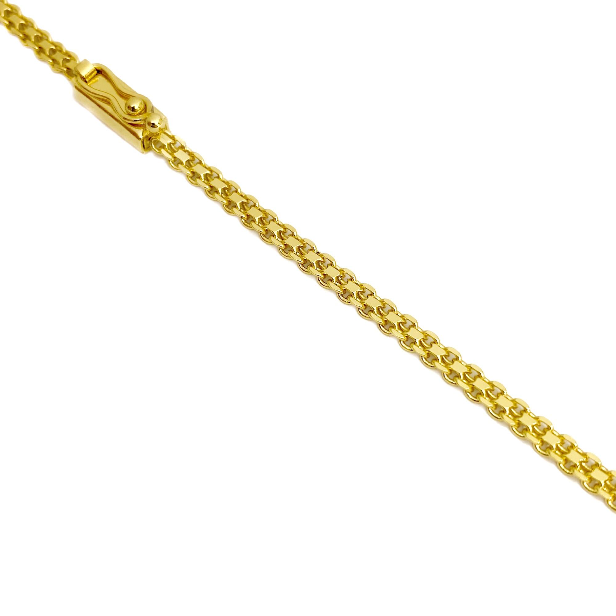 Corrente Cadeado Duplo 2,8mm 60cm 8g (Fecho Gaveta) (Banho Ouro 24k)