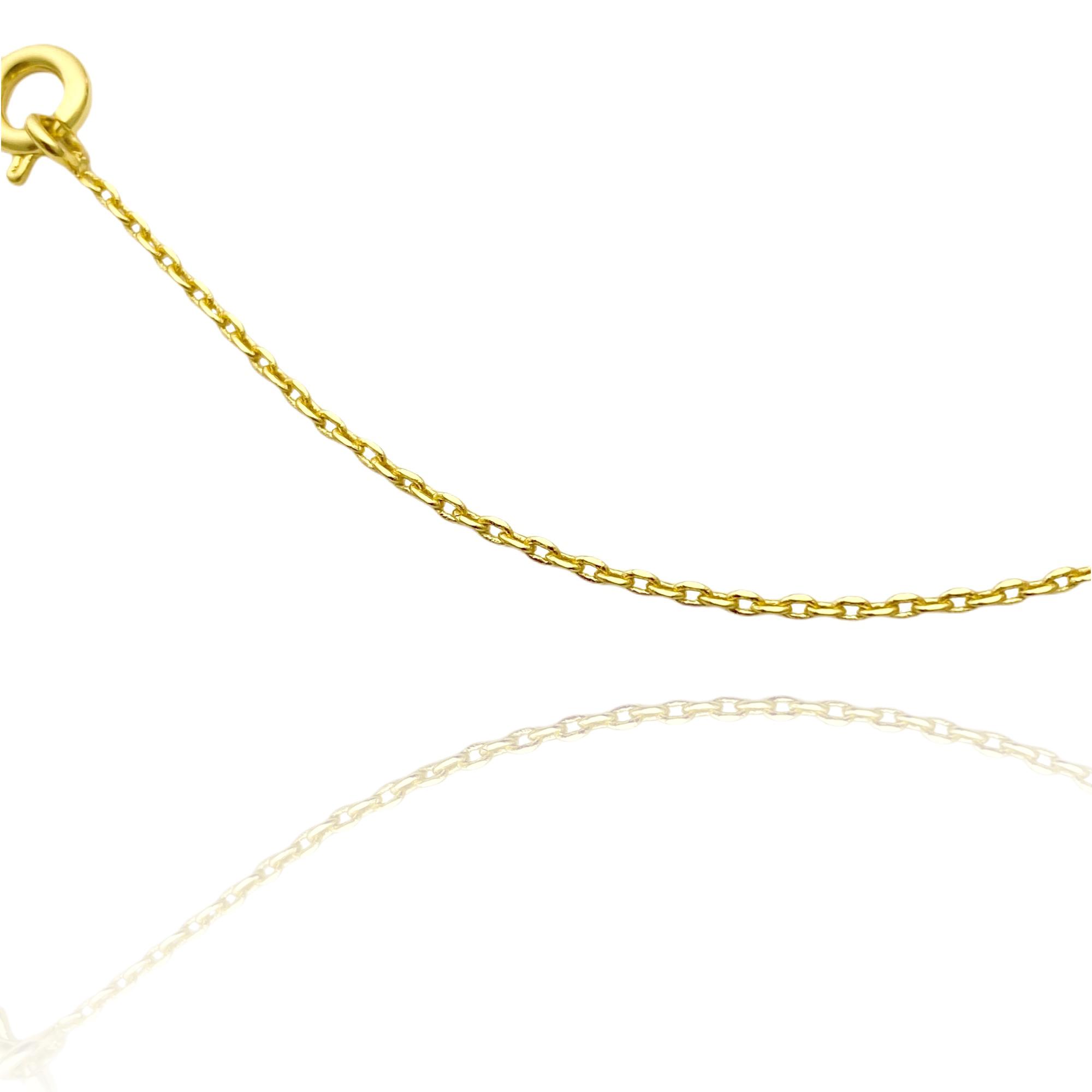 Corrente Carrier Cadeado 1,2mm 70cm (Fecho Tradicional) (Banho Ouro 24K)