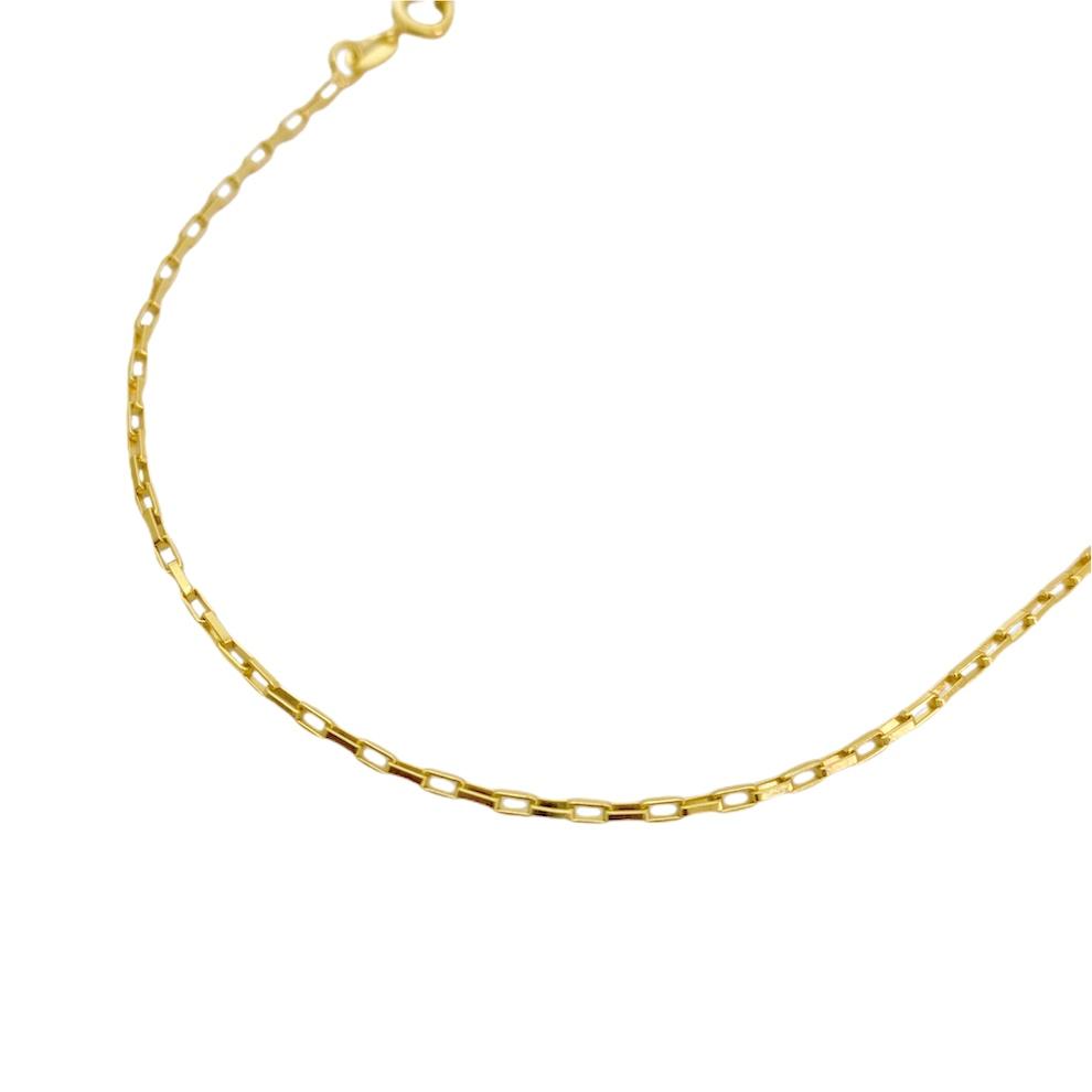 Corrente Cartier Cubinho 1,5mm 60cm (Fecho Tradicional) (Sem Tag) (Banho Ouro 24K)