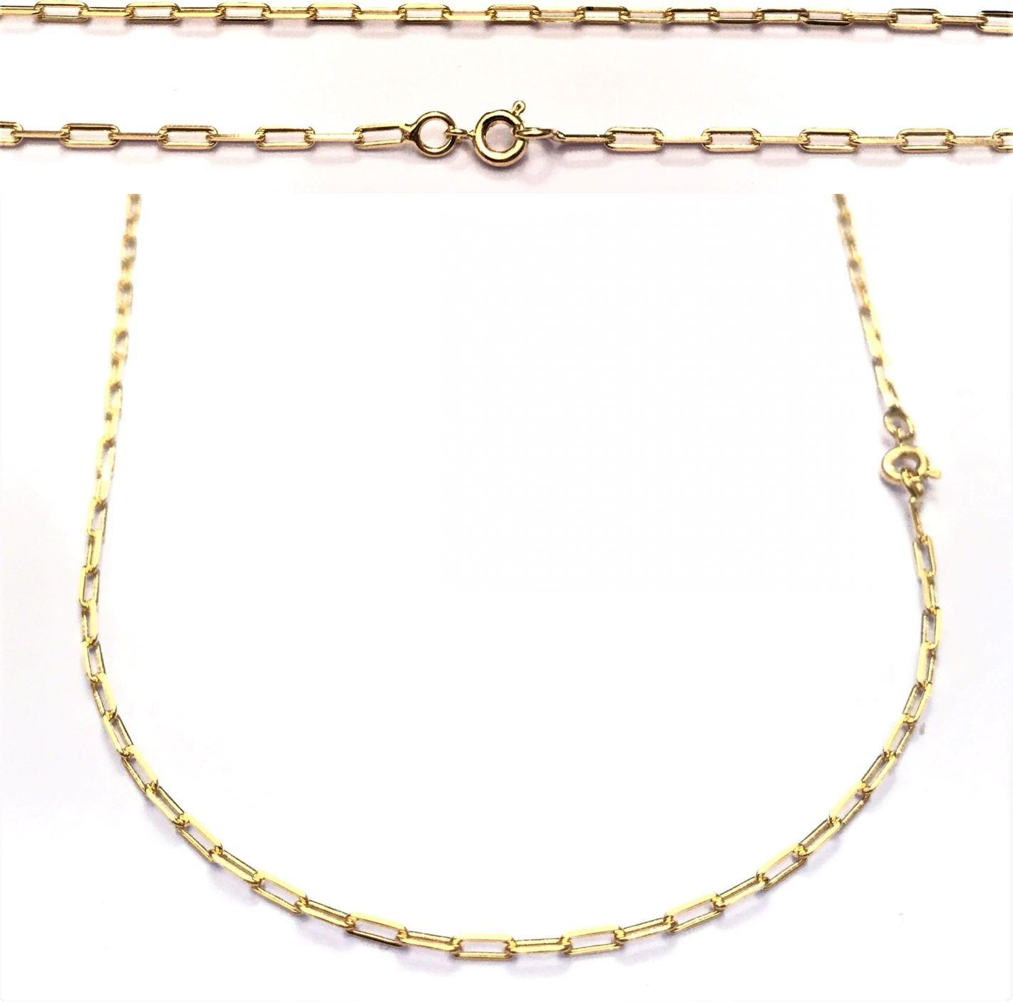 Corrente Carrier Diamantada 2mm 60cm (Fecho Tradicional) (Banho Ouro 18K)